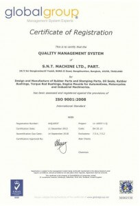 SNT AUTOPART Oil Seal ISO 9001 Certificate_543x768