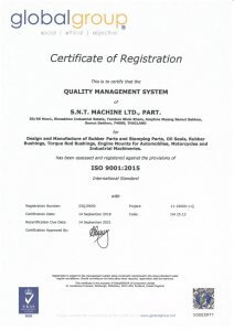 SNT AUTOPART Oil Seal ISO 9001:2015 Certification